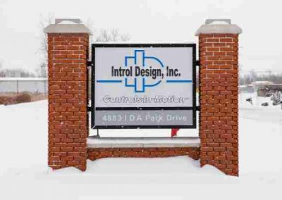Introl Designs aluminum Illuminated Sign Monument Sign Exterior Signs Illuminated Signs Monument Signs Business