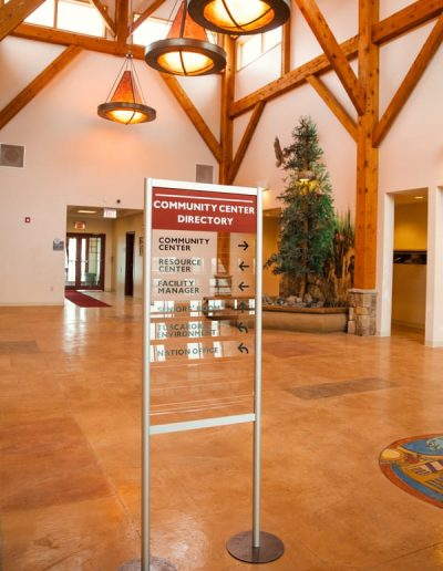 N-81 Tuscarora Health Center Acrylic Digitally Printed wayfinding Directory Interior Signs Directories Sanborn, New York Tuscarora Native American Medical