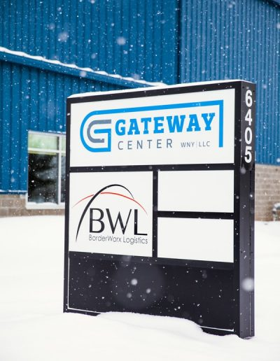 Gateway aluminum acrylic Illuminated Sign vinyl graphic Monument Sign Exterior Signs Non Illuminated Signs Monument Signs Sanborn, New York Niagara County, NY businesses Manufacturing