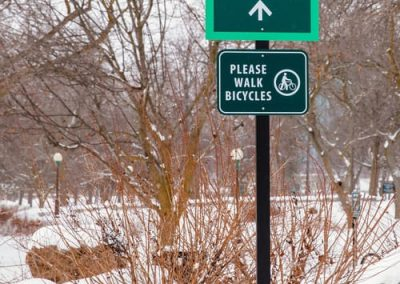 Exterior-Non Illuminated-Niagara Falls State Park Shoreline Trail Niagara Falls State Park aluminum Digitally Printed vinyl graphic wayfinding sign EX-Non Illuminated EX-Pole Sign Niagara Falls, NY Niagara County, NY Government State Park