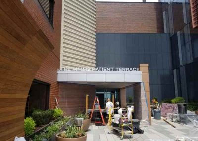 Roswell Park Cancer aluminum Dimensional Letter Exterior Signs Non Illuminated Signs Dimensional Letters Buffalo, New York Erie County, NY Medical