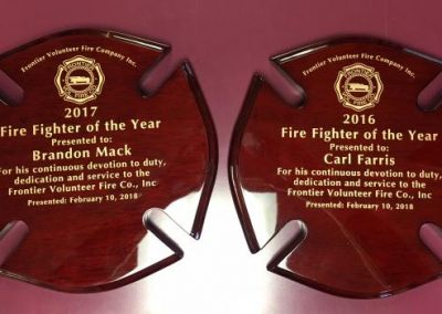 Plaques-Frontier Fire Co-Interior