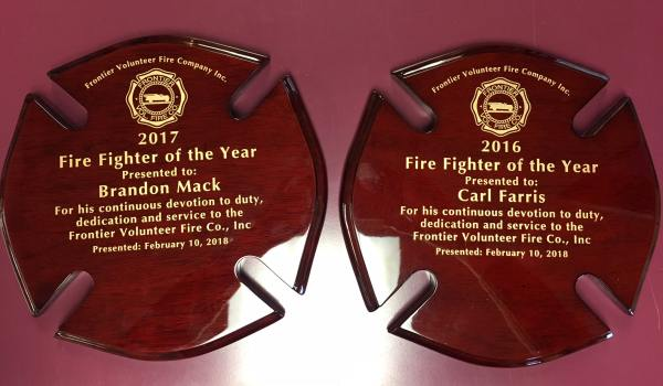 Frontier Fire Company Acrylic Interior Signs Plaques