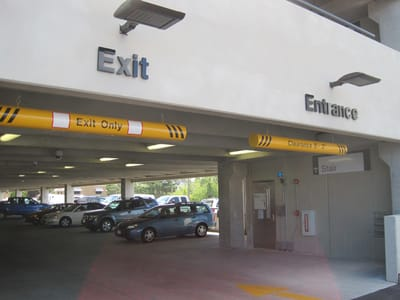 Exit and Entrance Signs Parking Ramp
