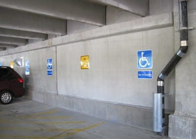 Parking Garage Handicap Signs