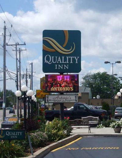 LED Message Center Antonio's Banquets Niagara Falls, NY NYS Certified WBE Sign Company Buffalo Niagara
