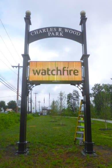 LED Message Center Charles R. Wood Park