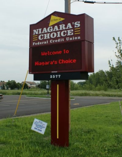 LED Message Center Niagara's Choice Federal Credit Union NYS Certified WBE Buffalo Niagara
