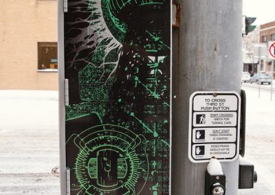 Graffiti Proof Utility Box Wrap City of Niagara Falls Tesla