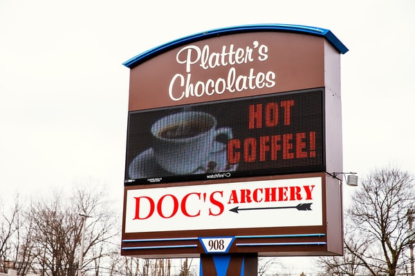 LED Message Centers-Platters Chocolates