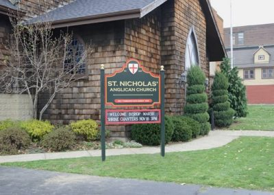 Post and Panel Saint Nicholas' Anglican Church
