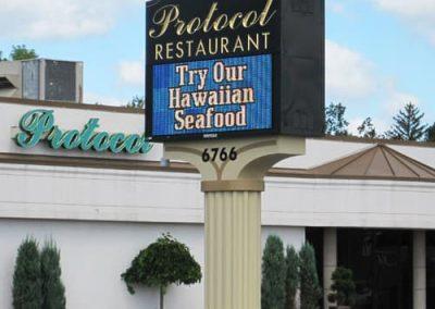 LED Message Protocol Restaurant