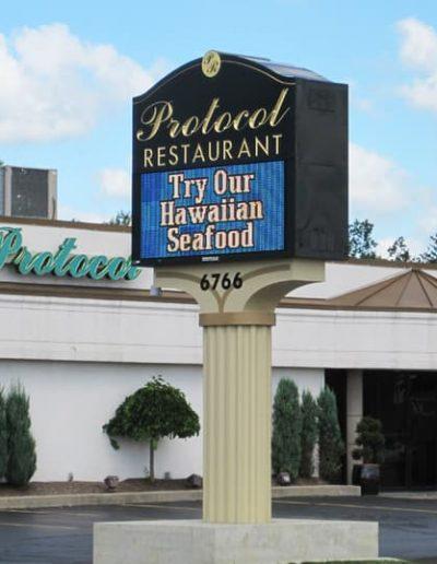 LED Message Protocol Restaurant Amherst, NY