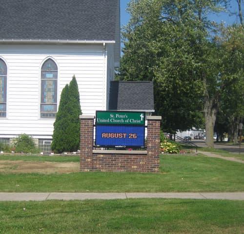 LED Message Centers Saint Peters Church