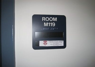 ADA and Wayfinding Room Sign
