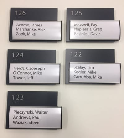 ADA and Wayfinding Office Signs