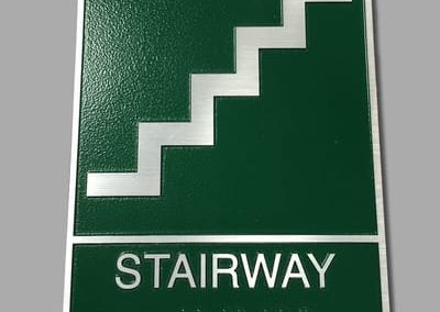 ADA and Wayfinding Stairway Sign