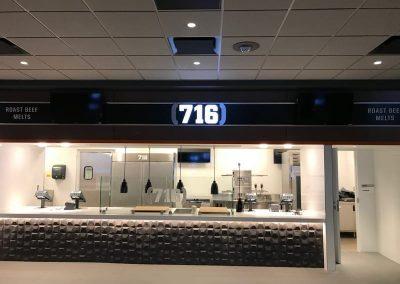 Illuminated Letters New Era Stadium 716 Buffalo Bill NYS WBE Sign Company Buffalo Niagara