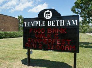LED Message Center Temple Beth Am