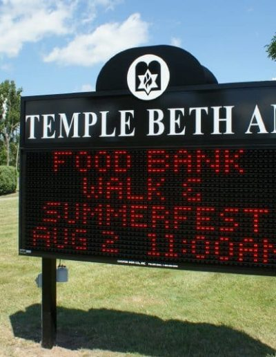 LED Message Center Temple Beth Am
