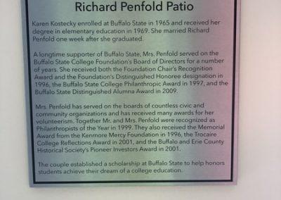 Dedication Buffalo State College Karen and Richard Penfold