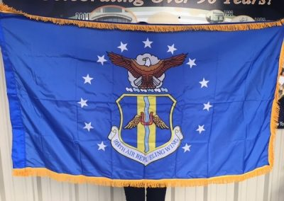 Custom Flag 914th Air Refueling Wing Old Glory Flag Company WBE Sign Company Buffalo Niagara