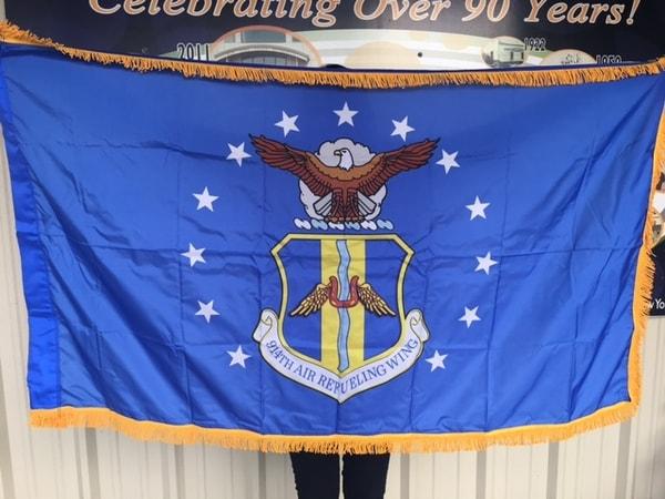 Custom Flag 914th Air Refueling Wing Old Glory Flag Company WBE Sign Company Buffalo Niagara