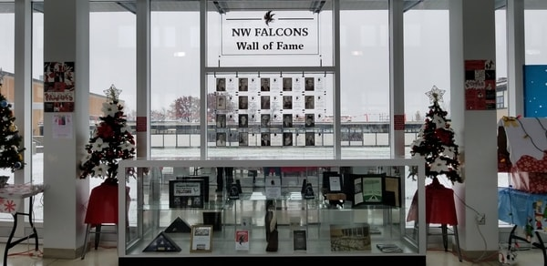 Dedication Wall Niagara Wheatfield High School Acrylic Sign NYS WBE Sign Company Buffalo Niagara
