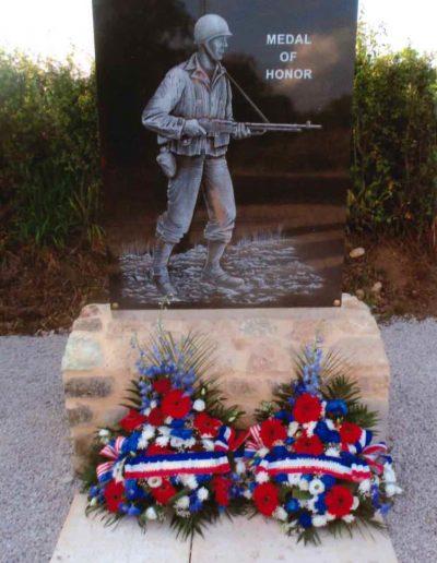 Exterior Dedication PFC Charles N. DeGlopper Medal of Honor