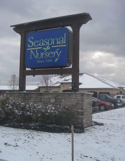 Exterior Illuminated Seasonal Nursery