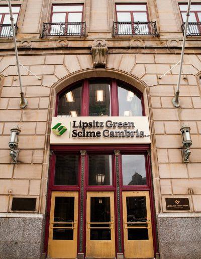 Exterior Illuminated Letters Lipitz Green Scime Cambria