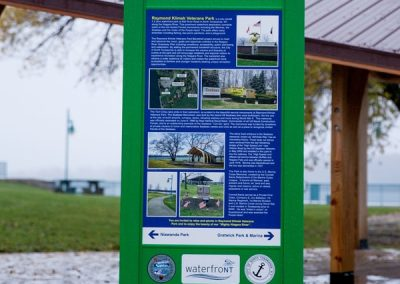 Digitally Printed grafitti proof wayfinding sign EX-Non Illuminated EX-Post and Panel Appleton Barker Burt Gasport Lewiston Lockport Middleport Newfane Niagara Falls North Tonawanda Olcott Ransomville Sanborn Wilson Youngstown