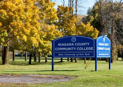 Niagara County Erie County Sign Company NYS WBE Appleton Barker Burt Gasport Lewiston Lockport Middleport Newfane Niagara Falls North Tonawanda Olcott Ransomville Sanborn Wilson Education Exterior Signs New York State Colleges