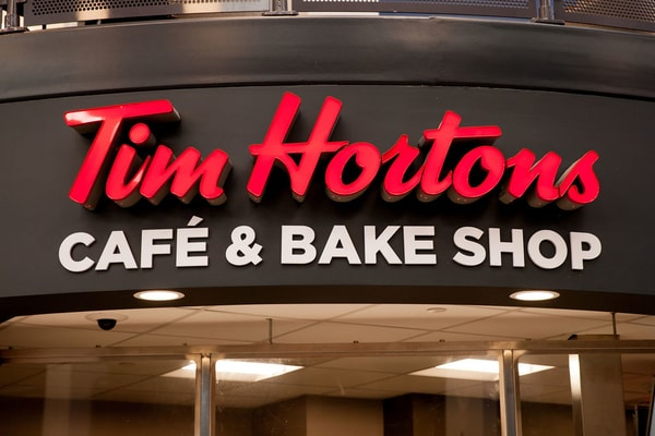 Tim Hortons aluminum channel letters Interior Signs Illuminated Channel Letters Front Lit Channel Letters Sanborn, New York Niagara County, NY Educational college