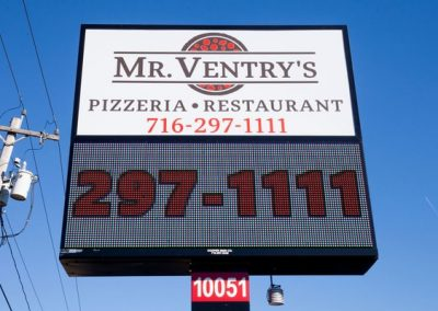 LED Message Centers, Exterior Illuminated Business Signs, Best signs for restaurants, Erie County Sign Company NYS WBE Appleton Barker Burt Gasport Lewiston Lockport Middleport Newfane Niagara Falls North Tonawanda Olcott Ransomville Sanborn Wilson