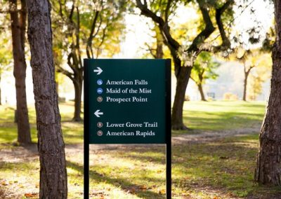 Niagara County New York State Parks Park Signs Post and Panel Signs Erie County Sign Company NYS WBE Appleton Barker Burt Gasport Lewiston Lockport Middleport Newfane Niagara Falls North Tonawanda Olcott Ransomville Sanborn Wilson