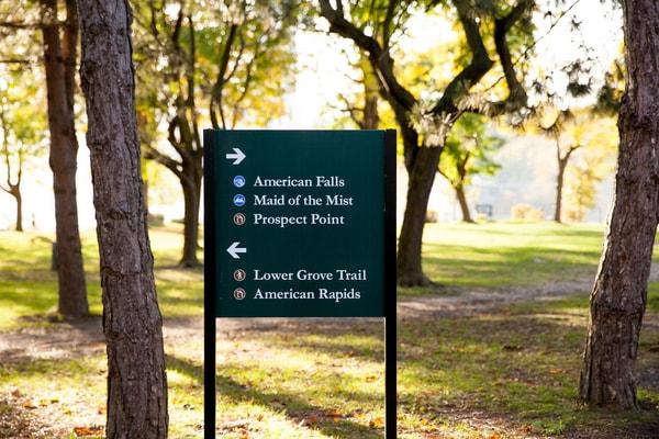 Niagara County New York State Parks Park Signs Post and Panel Signs Erie County Sign Company NYS WBE Appleton Barker Burt Gasport Lewiston Lockport Middleport Newfane Niagara Falls North Tonawanda Olcott Ransomville Sanborn Wilson