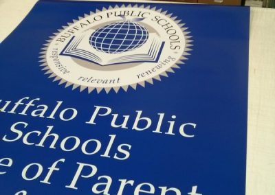 Digitally Printed Signs Buffalo Public Schools NYS WBE Sign Company Erie County Buffalo NY