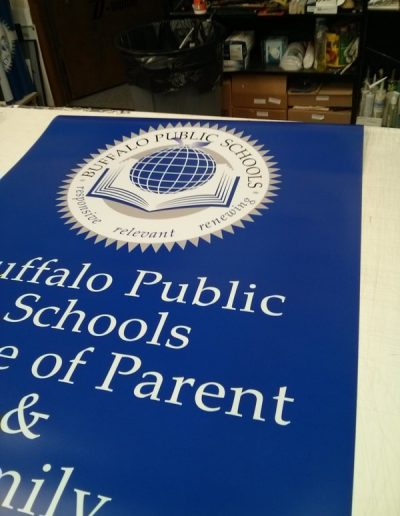 Digitally Printed Signs Buffalo Public Schools NYS WBE Sign Company Erie County Buffalo NY