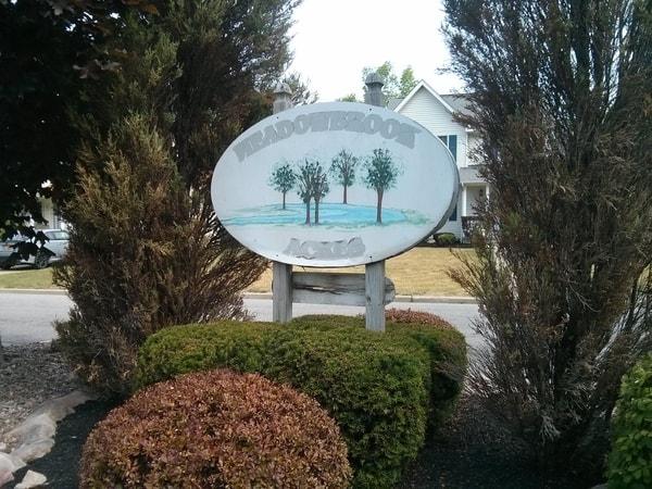 Exterior Non Illuminated Meadowbrook Acres NYS WBE Sign Company Buffalo Niagara Development and Subdivisions