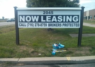 Exterior Post and Panel Leasing Signs
