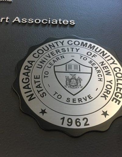 Plaque Niagara County Community College