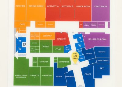 Digitally Printed Wayfinding Maps