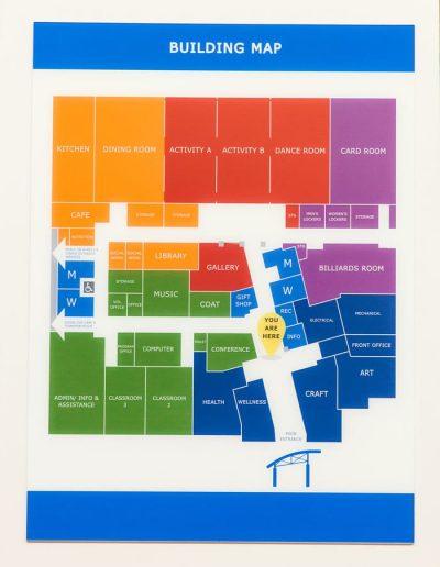 Digitally Printed Wayfinding Maps