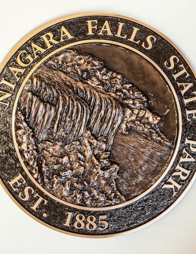 Cast and Etched Plaques Niagara Falls State Park NYS WBE Sign Company Buffalo Niagara Tourism Signs