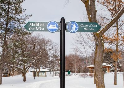 Wayfinding Niagara Falls State Park aluminum Digitally Printed grafitti proof Pole Sign EX-Non Illuminated EX-Post and Panel