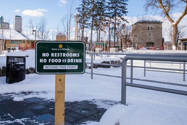 Niagara Falls State Park aluminum Digitally Printed grafitti proof Pole Sign EX-Non Illuminated EX-Post and Panel