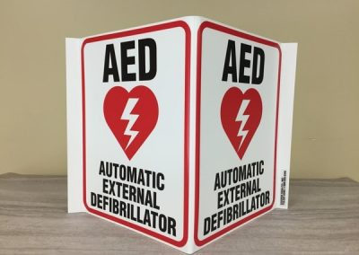 N-116 Tesla Styrene Automatic External Defib AED Interior Signs Safety Signs South Buffalo, NY Erie County, NY Busiinesses manufacturing