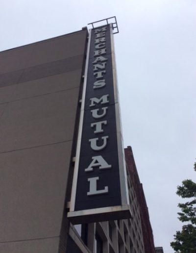 N-118 Merchants Mutual Insurance aluminum Illuminated Sign Exterior Signs Illuminated Signs Wall Mounted Cabinet Sign