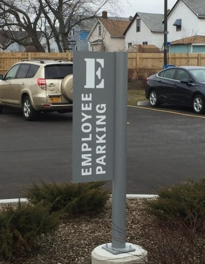 Traffic Sign Parking Lot WBE Sign Company Erie and Niagara County